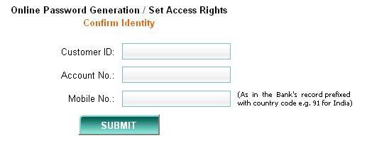 idbi internet banking password generation