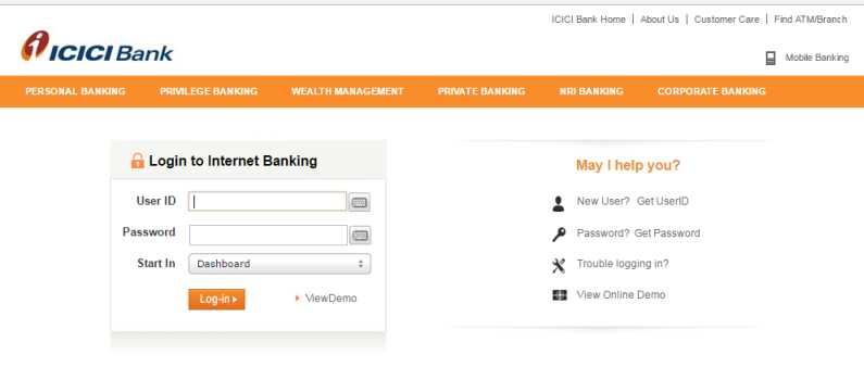icici bank internet banking new user