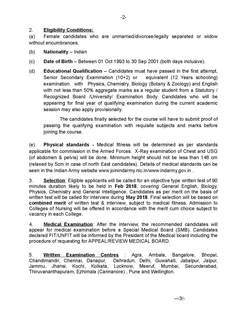Indian Army Bsc Nursing Application Form Download - 2020 ...